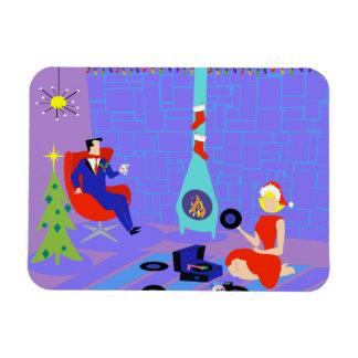 Retro Zuhause für den Feiertage Flexi Magneten Magnet
