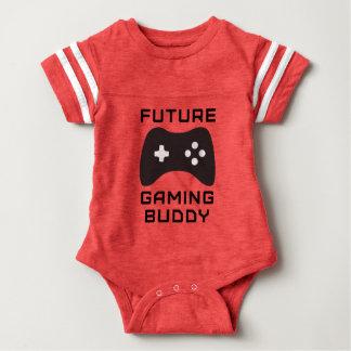 Retro zukünftiger Spiel-Freund Baby Strampler