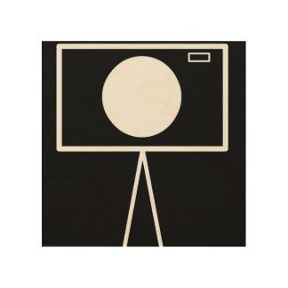 RetroCam 8x8 hölzerne Wandkunst Holzdruck