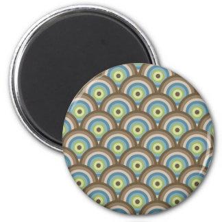 Rétros cadeaux frais de coutume de motif de cercle magnet rond 8 cm