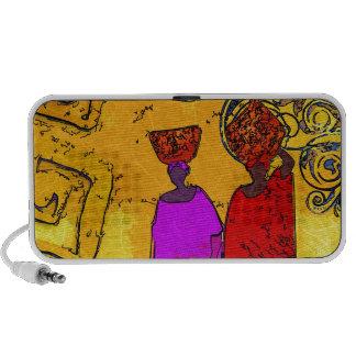 Rétros cadeaux vintages de style de l'Afrique Haut-parleurs Portables
