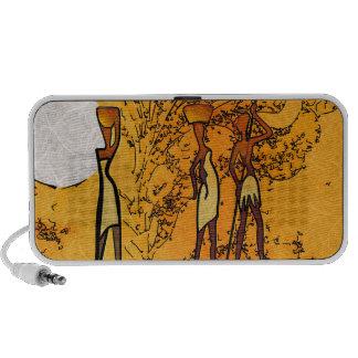 Rétros cadeaux vintages de style de l'Afrique Haut-parleurs iPod