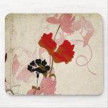 Rétros fleurs Mousepad Tapis De Souris