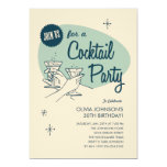Rétros invitations de cocktail
