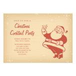 Rétros invitations de cocktail de Noël