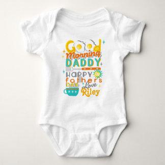 Rétros oeufs de la chemise W de bébé de première Body