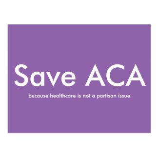 Retten Sie ACA-Postkarte Postkarte