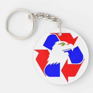 Retten Sie Amerika, recyceln Sie Kongreß! Beidseitiger Runder Acryl Schlüsselanhänger