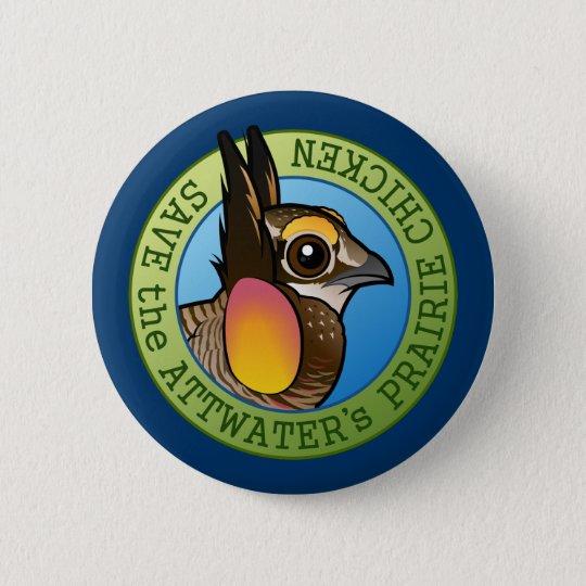 Retten Sie das des Attwaters Grasland-Huhn Runder Button 5,1 Cm