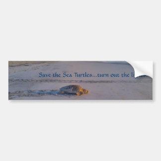 Retten Sie dem Seeschildkröte… Ausschalten die Autoaufkleber