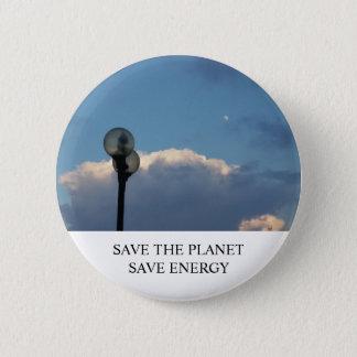 Retten Sie den Planeten-Knopf Runder Button 5,7 Cm