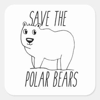 Retten Sie den polaren Bären Aufkleber