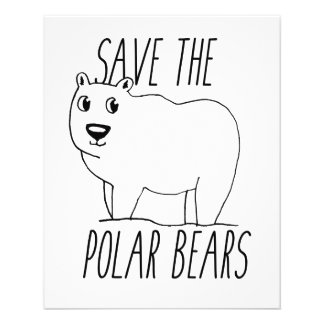 Retten Sie den polaren Bären Flyer