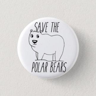 Retten Sie den polaren Bären Knopf Runder Button 3,2 Cm