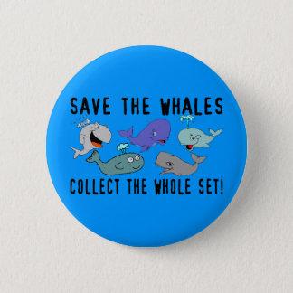 Retten Sie den Walen Set Runder Button 5,1 Cm