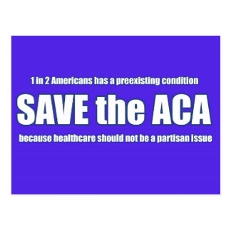 Retten Sie die ACA-Postkarte Postkarte