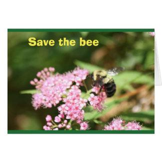retten Sie die Biene Karte