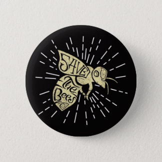 Retten Sie die Bienen Runder Button 5,7 Cm