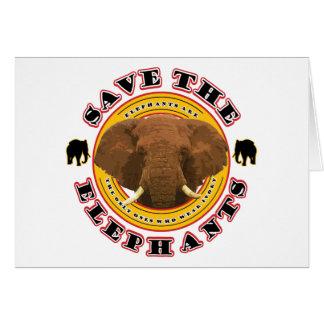 Retten Sie die Elefanten Karte