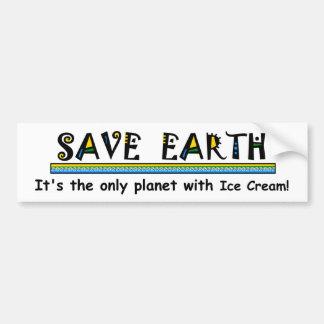 Retten Sie die Erde, die es der einzige Planet mit Autoaufkleber