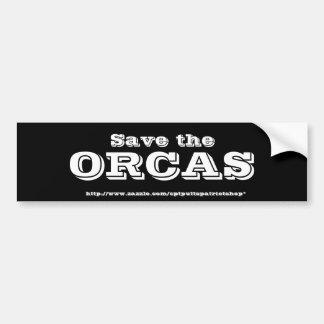 Retten Sie die ORCAS Autoaufkleber
