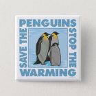 Retten Sie die Penguins Quadratischer Button 5,1 Cm