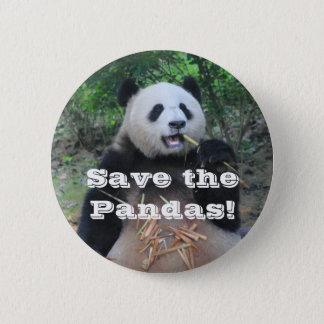 Retten Sie die riesigen Pandas Runder Button 5,7 Cm