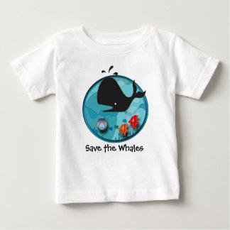 Retten Sie die Wale Baby T-shirt