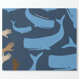 Retten Sie die Wale Geschenkpapier