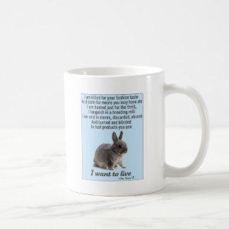 Retten Sie ein Häschen Kaffeetasse