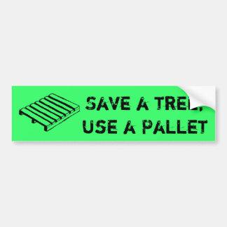 Retten Sie einen Baum, verwenden Sie einen Autoaufkleber