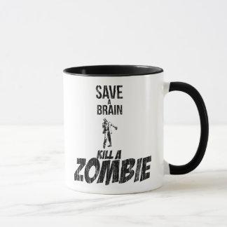 Retten Sie einer Gehirn Tötung einen Zombie Tasse