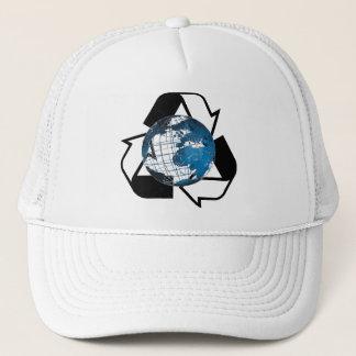 Retten Sie Energie, recyceln Sie Truckerkappe