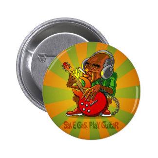 retten Sie Gas, Spielgitarre Runder Button 5,7 Cm