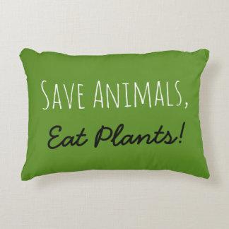 Retten Sie Tiere, essen Sie Pflanzen! Kissen