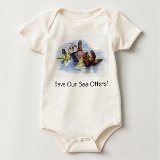 Retten Sie unseren Seeottern Baby-Strampler Baby Strampler