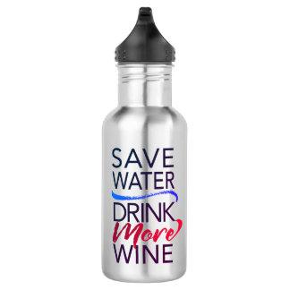 Retten Sie Wasser-Getränk mehr Wein-Wasser-Flasche Trinkflasche