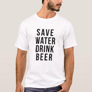 Retten Sie Wassergetränk-Bier-Shirt T-Shirt