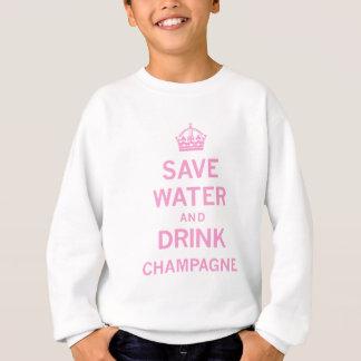 retten Sie Wassergetränkchampagner Sweatshirt