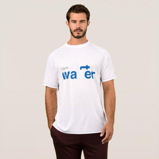 retten Sie Wasserweiß-T - Shirt