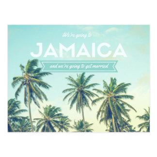Retten tropische Strand-Hochzeit Jamaikas die Postkarte