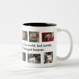 Rettung ändert die Welt eines Hundes Kaffeetassen