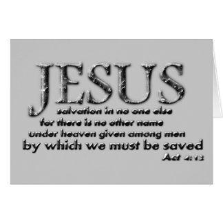 Rettung in JESUS allein Karte