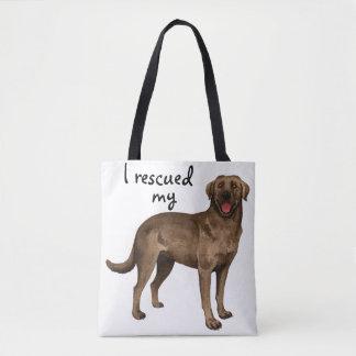 Rettungs-Schokoladen-Labrador Tasche