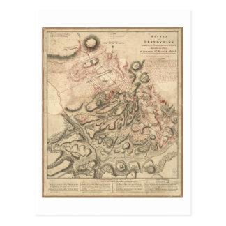 Revolutionärer Kriegs-Kampf von Brandywine Karte