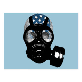 Revolutionsprotest-Gasmaske Postkarte