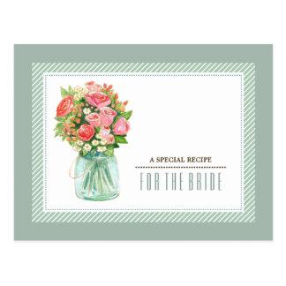Rezept für die Braut. Brautparty-kundenspezifische Postkarte