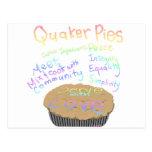 Rezept für Quäker-Torten Postkarten