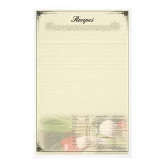 Rezept-Gewohnheits-Briefpapier Briefpapier