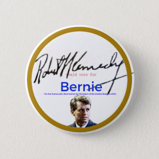 RFK für Bernie-Sandpapierschleifmaschinen Runder Button 5,7 Cm
